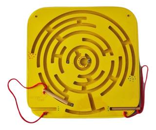 Juego D Pared Laberinto Magnetico Madera Cuadrado 40x40cm Pp