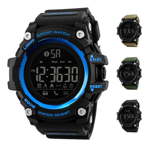 Skmei 1385 Estilo Militar Bluetooth Smartwatch Sumergible