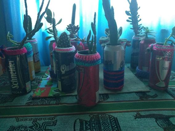 Cactus En Latas Reciclada