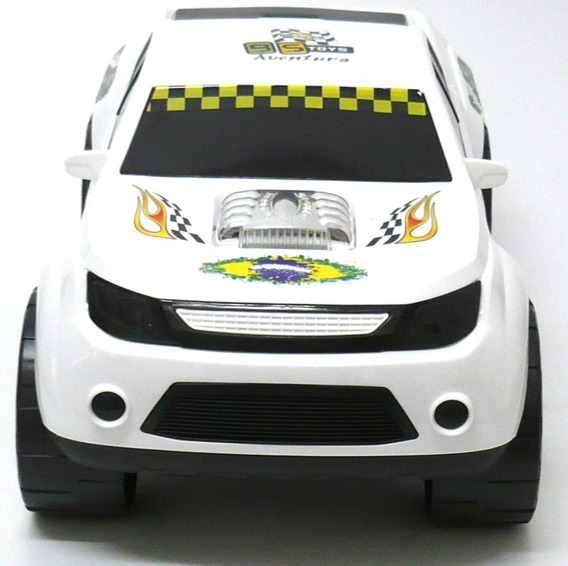 Carrinho Caminhote Pick-up Texas Super Rally Branco Bs Toys