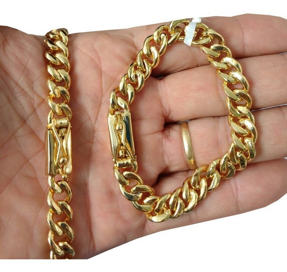 Pulseira Banhada Ouro Pitibull Grumet 10mm Caixa E F.gratis