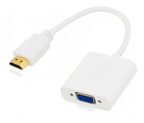 Imagen 1 de 2 de Adaptador Conversor Cable Hdmi A Vga Activo S/audio