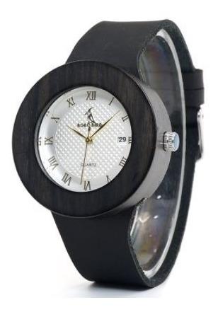 Relógio Feminino Bambu Bobo Bird Calendário C02