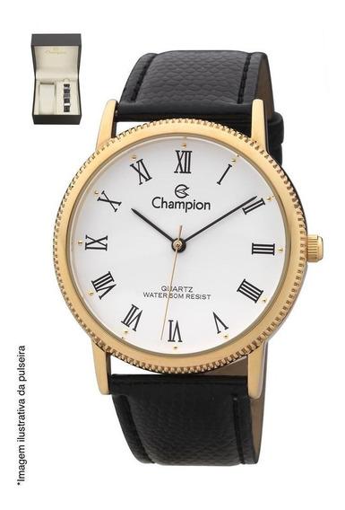 Relógio Champion Masculino Ref: Ch22180d Dourado + Pulseira