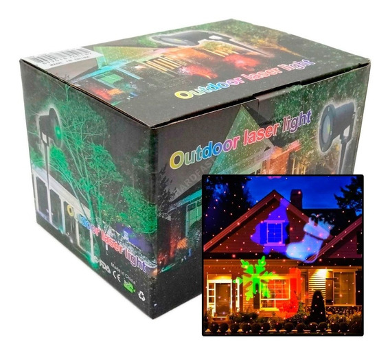 Projetor Laser Casa Jardim Light Natal Bivolt Led 5w Espeto
