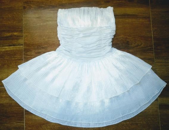 Vestido Branco Drapeado Noiva 15 Anos