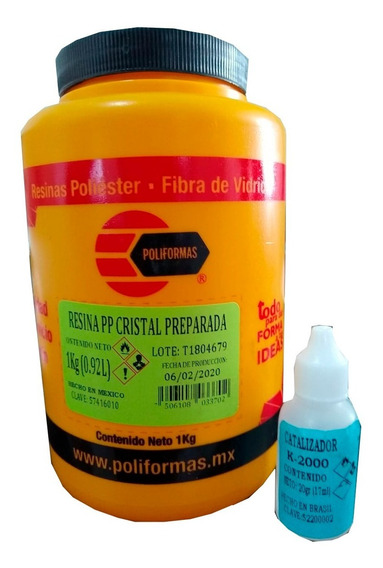 1 Kg. Resina Cristal Poliester Para Encapsulados Artesanales