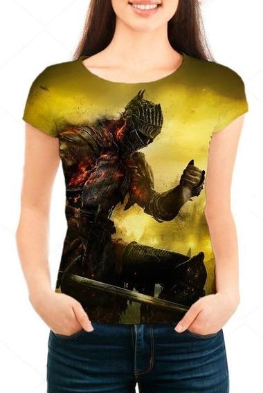 Camiseta Babylook Feminina Game Dark Souls 3