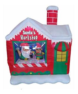 Bzb Goods Taller De Papá Noel Inflable Navidad