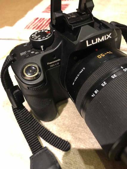 Câmera Lumix Dmc L10 Com Lente 14-50