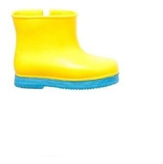 Botas Nene Lluvia Seco Amarillo Celeste