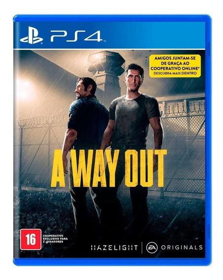 A Way Out Ps4 Mídia Física Novo Lacrado