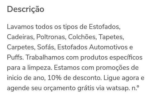 Lavagem Hidratação Estofado Banco De Carro E Etc
