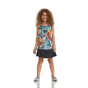 Saia Acostamento Infantil Fashion Marinho
