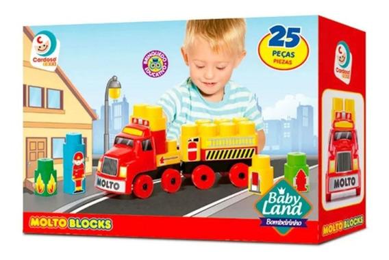 Brinquedo Educativo Molto Blocks 25 Pcs 8009