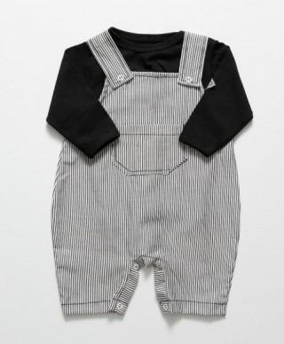 Jardineira Âncora Manga Curta - Bebê - Menino