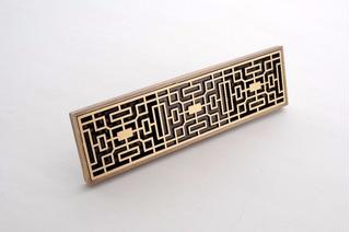 Coladera Para Baño O Patio De Laton Antiguo Diseño Lineal