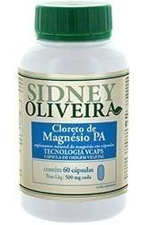 Cloreto De Magnésio Pa 500 Mg Sidney Oliveira 60 Cápsulas Fg
