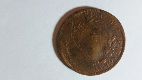 Moneda Paraguay 1 Centésimo Año 1870 (buena)