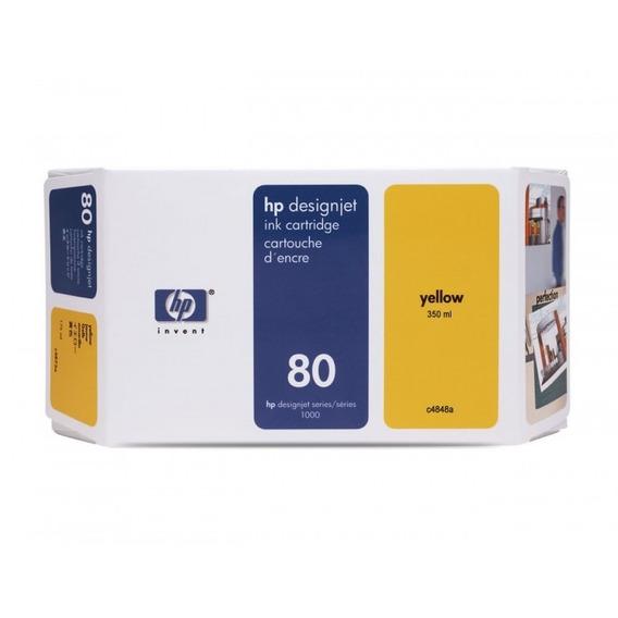 Kit Cabeça De Impressão + Cartucho Hp 80 Yellow (vencido)