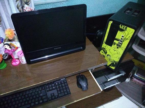 Computador Positivo + Escrivaninha + Impressora