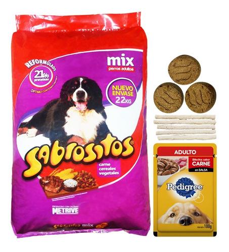 Imagen 1 de 2 de Alimento Sabrositos Mix Perro Adulto 20 + 2 Kg + Regalo