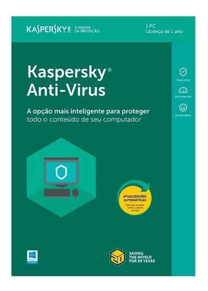 Chave Serial Kaspersky Anti-vírus 2019 - 1 Pc 1 Ano Windows