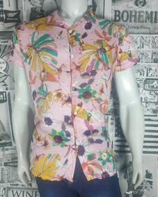 Camisa Estampa Floral Em Viscose Masculina - Promoção Oferta