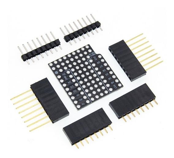 Wemos D1 Mini Shield Protótipo Protoboard Duplo Face Perf