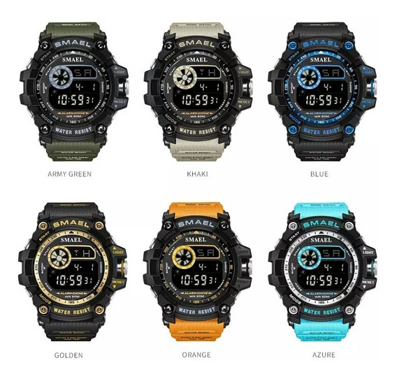 Relógio Masculino Smael 8010 Esportivo Militar Shock
