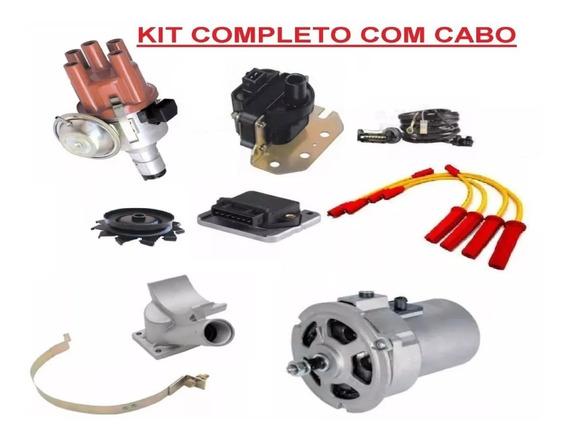 Kit Alternador 55ah+ignição Eletronica Fusca Brasilia Kombi