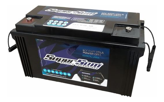 Bateria 120ah Super Som Estacionária Agm Vrla Gel C/ Alça