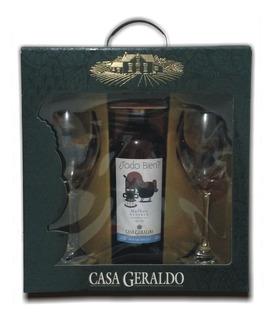 Kit Vinho Casa Geraldo Todo Bien? Com 2 Taças + Brinde!!!