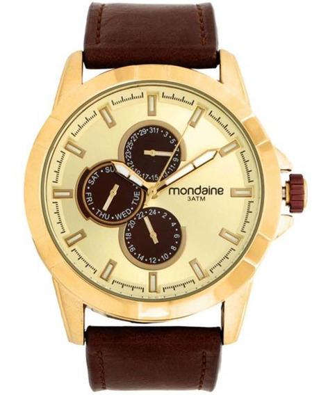 Relógio Masculino Mondaine 99226gpmvdh1 Couro