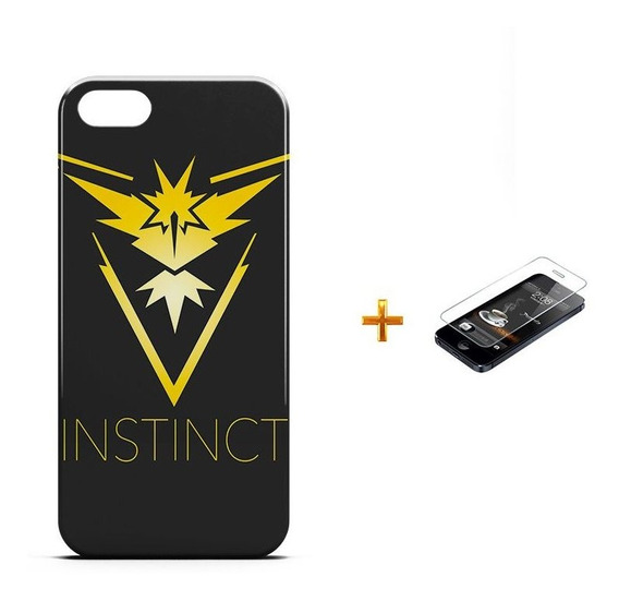 Kit Capa iPhone 5/5s Pokemon Instinct Team +pel.vidro Bd1
