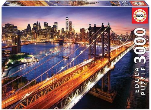 Imagen 1 de 3 de 18508 Manhattan Al Atardecer Rompecabezas 3000 Piezas Educa