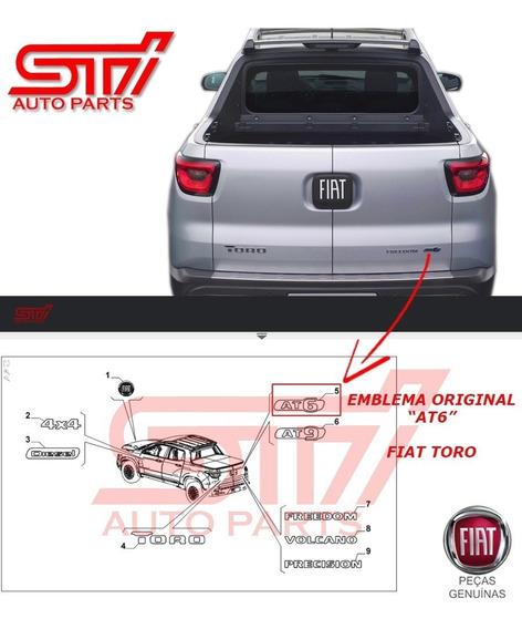 Emblema Sigla Adesivo At6 Marcha Novo Original Fiat Toro Nf