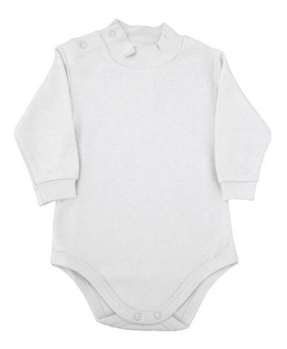 Body Infantil Com Gola Alta - Branco - Piu Piu