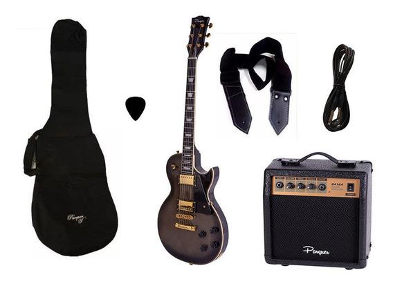 Combo Guitarra Electrica Parquer Lp Negra 2 Amplif 10w Cuota