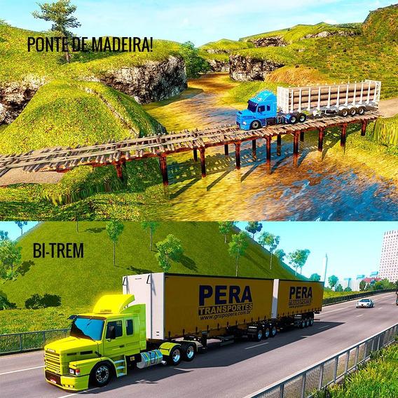 Euro Truck Simulator 2 Mapa Brasil + Caminhão Br
