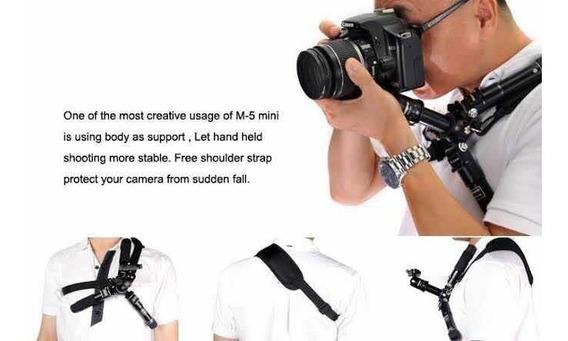 Mini Tripé Profissional M-5 Fotopro Nikon, Cannon, Sony