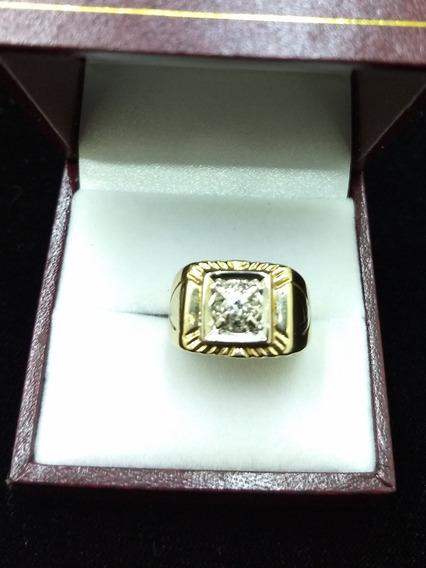Anillo De Oro Amarillo 14k Caballero Con Diamantes
