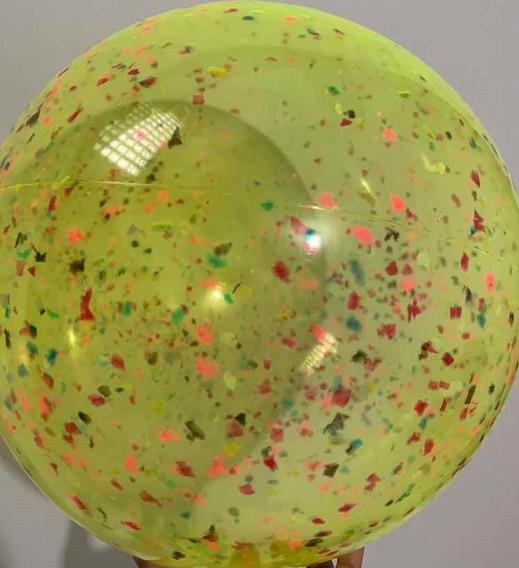 20 Bolao De Praia Confete 40cm Lembrançinha Aniversário