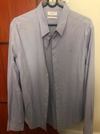 2 Camisas Listradas Azul E Branco Tamanho 4