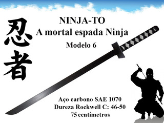 Ninja To Full Tang Combate Shinobi Espada Ninja Katana