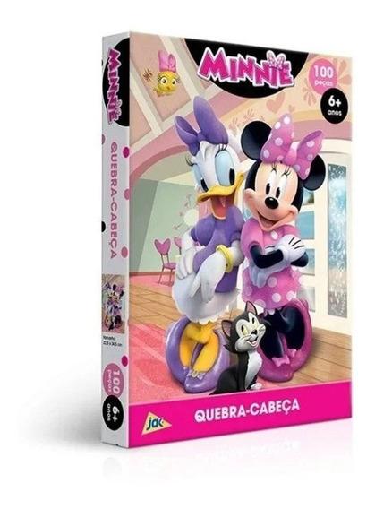 Quebra Cabeça Puzzle 100 Pçs Disney Minnie E Margarida