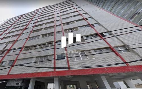 Imagem 1 de 15 de Apartamento Pé Na Areia De 1 Dormitório, Oportunidade Em Praia Grande Sp.ac