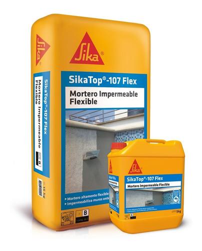 Imagen 1 de 5 de Sikatop 107 Flex Mortero Impermeable Flexible Juego 20 Kg