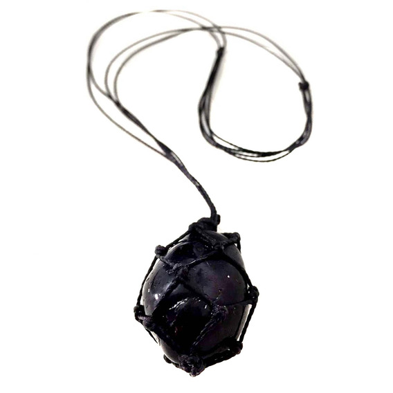 Colar De Pedra Castroada Turmalina Negra Natural - 976