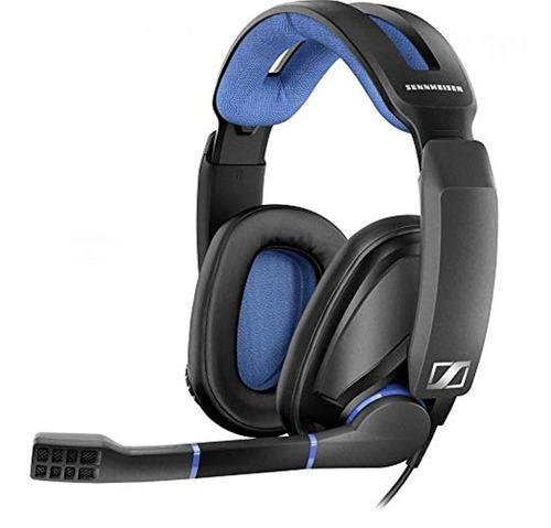Sennheiser Auriculares Para Videojuegos, Negro Y Azul